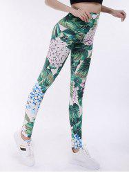 Leggings de yoga à haute taille Tropical Print -