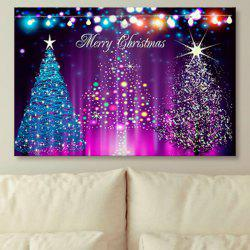 Wall Art Neon Christmas Tree Print Canvas Painting -