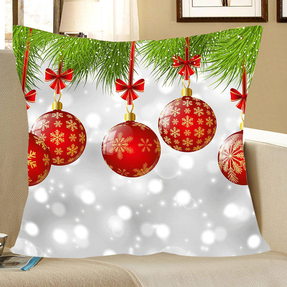 Outfits Christmas Baubles Pattern Linen Pillow Case