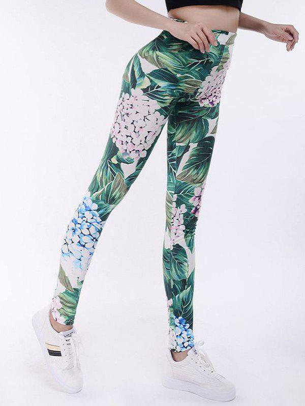 Leggings de yoga à haute taille Tropical Print