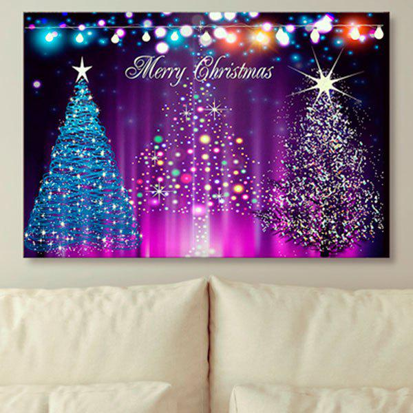 Shops Wall Art Neon Christmas Tree Print Canvas Painting