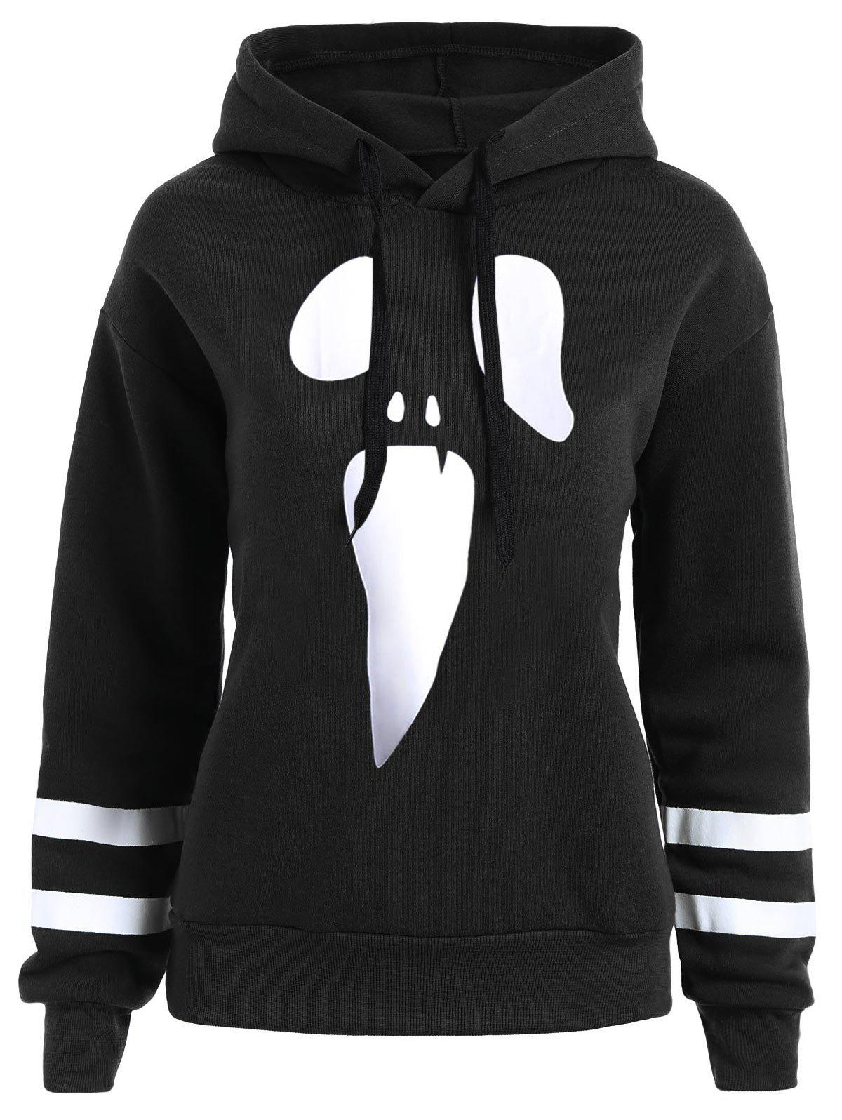 Trendy Halloween Plus Size Pullover Drop Shoulder Graphic Hoodie