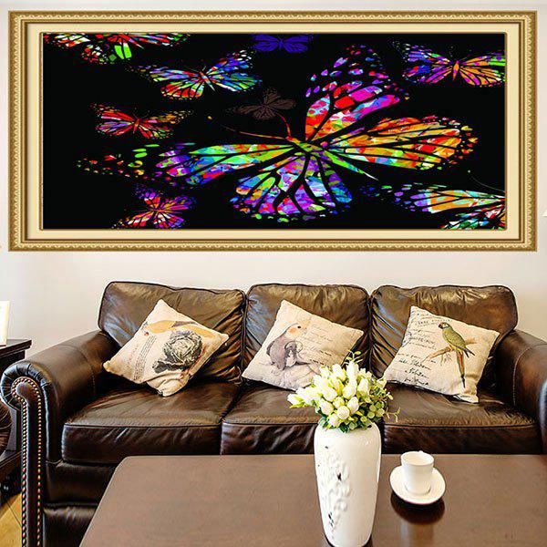 Fashion Multifunction Colored Butterflies Printed Stick-on Wall Art Painting