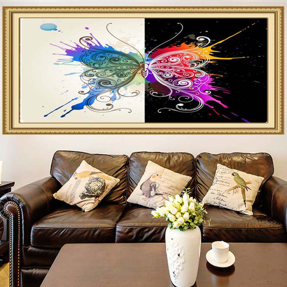 Discount Multifunction Butterfly Splatter Print Stick-on Wall Art Painting