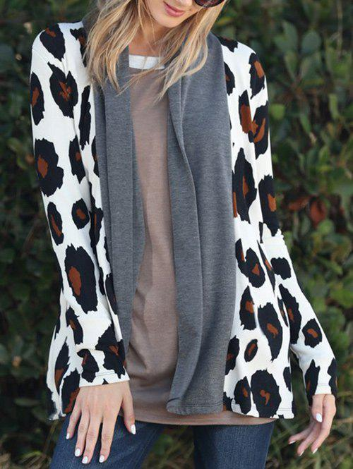 Fancy Leopard Long Sleeve Open Front Cardigan