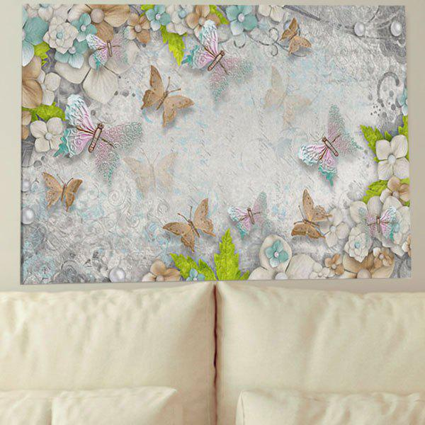 Unique Unframed Wall Art Butterfly Flower Print Canvas Painting