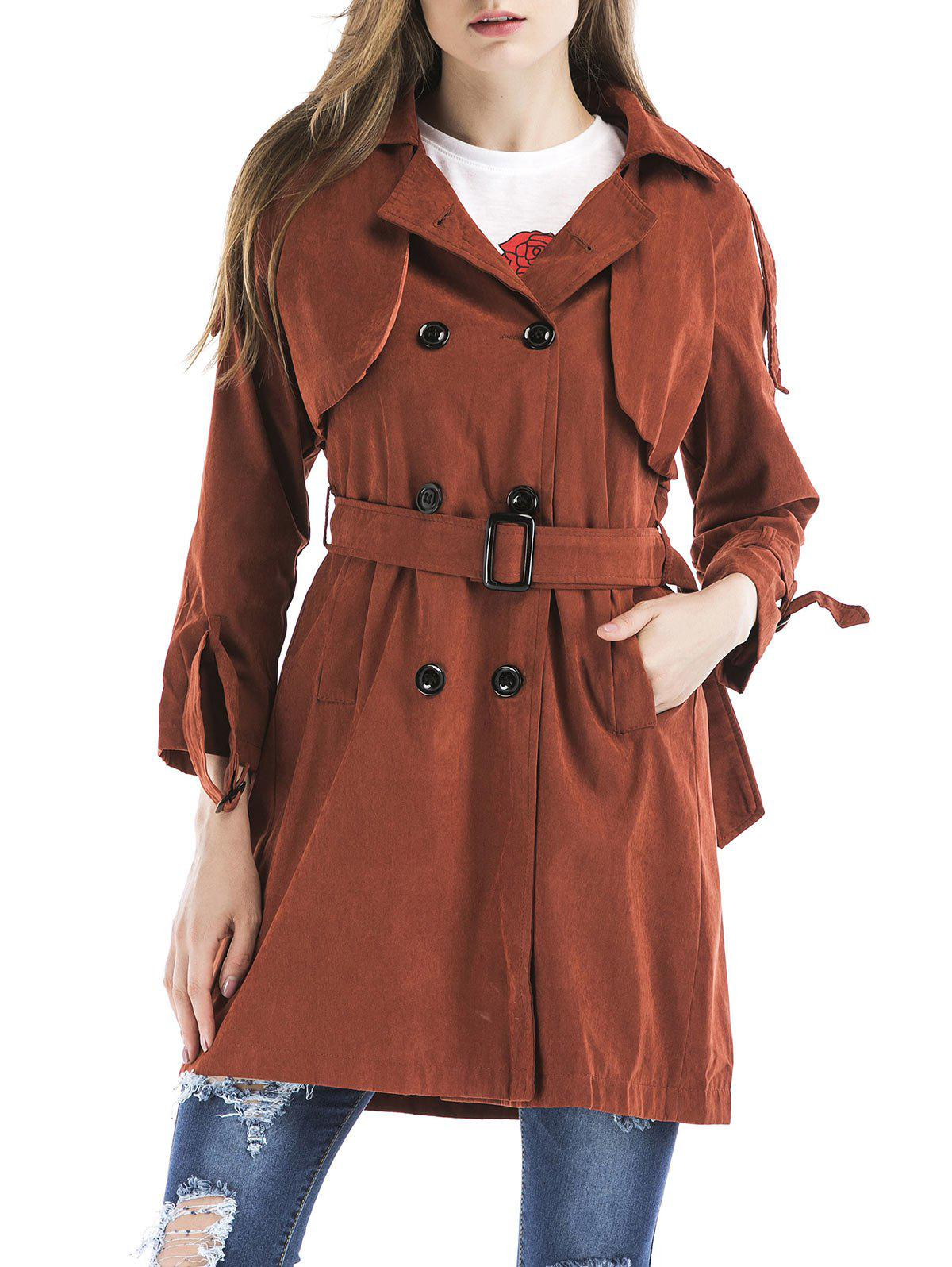Shop Double Breasted Trench Coat