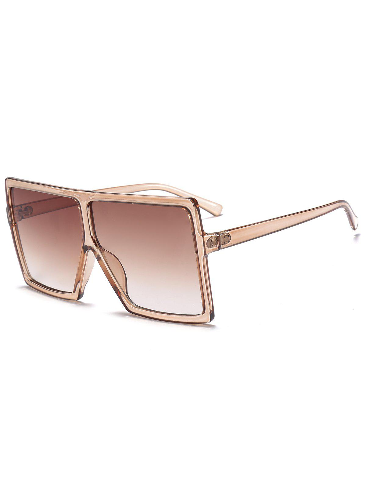Oversized Square Full Frame SunglassesACCESSORIES<br><br>Color: BROWN; Group: Adult; Gender: For Unisex; Style: Fashion; Shape: Square; Lens material: Resin; Frame material: Other; Frame Color: Multi-color; Lens height: 6.4CM; Lens width: 6.8CM; Temple Length: 14CM; Nose: 1.2CM; Frame Length: 14.9CM; Weight: 0.0900kg; Package Contents: 1 x Sunglasses;