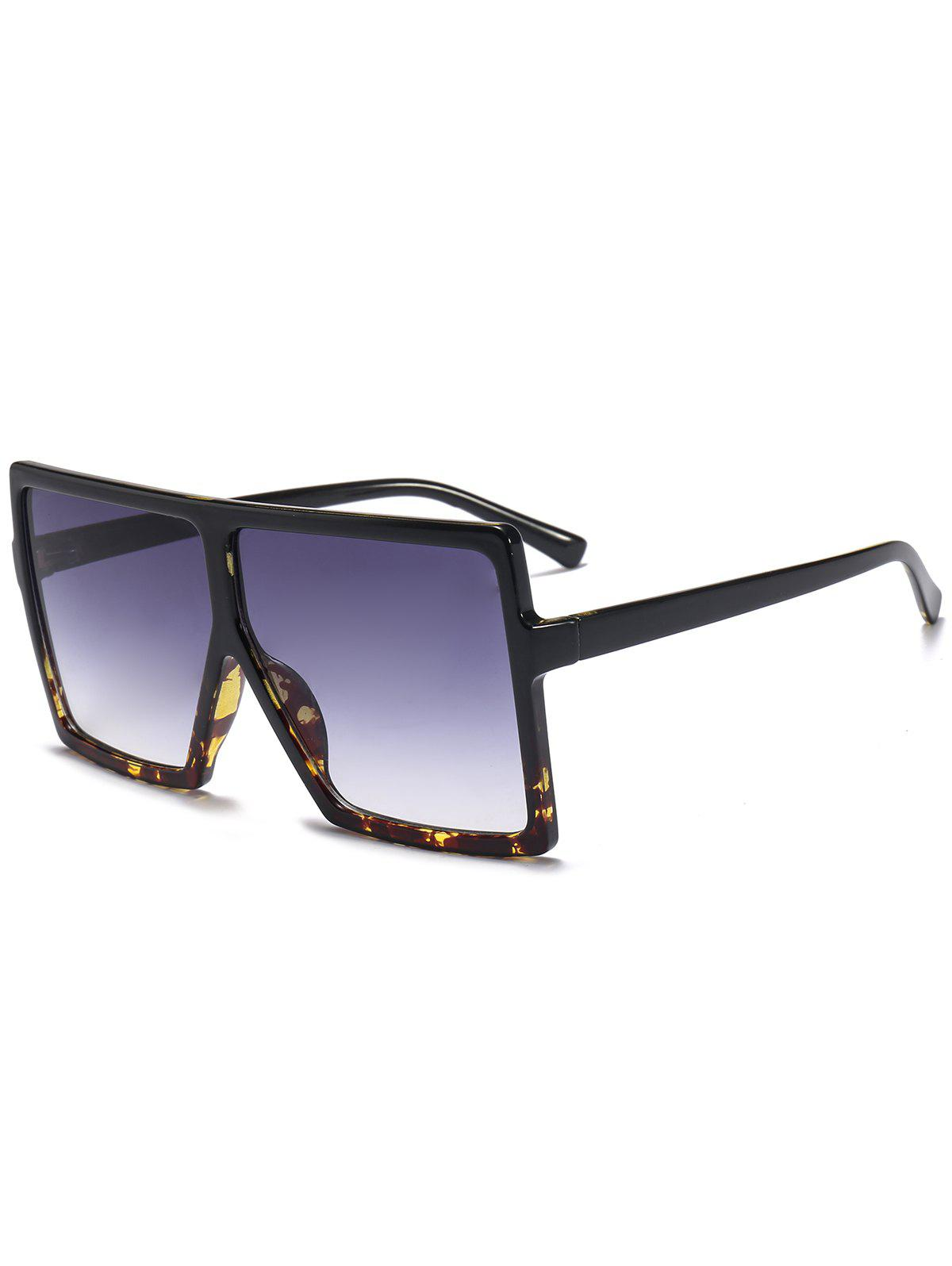 Oversized Square Full Frame SunglassesACCESSORIES<br><br>Color: BLACK+LEOPARD C2; Group: Adult; Gender: For Unisex; Style: Fashion; Shape: Square; Lens material: Resin; Frame material: Other; Frame Color: Multi-color; Lens height: 6.4CM; Lens width: 6.8CM; Temple Length: 14CM; Nose: 1.2CM; Frame Length: 14.9CM; Weight: 0.0900kg; Package Contents: 1 x Sunglasses;
