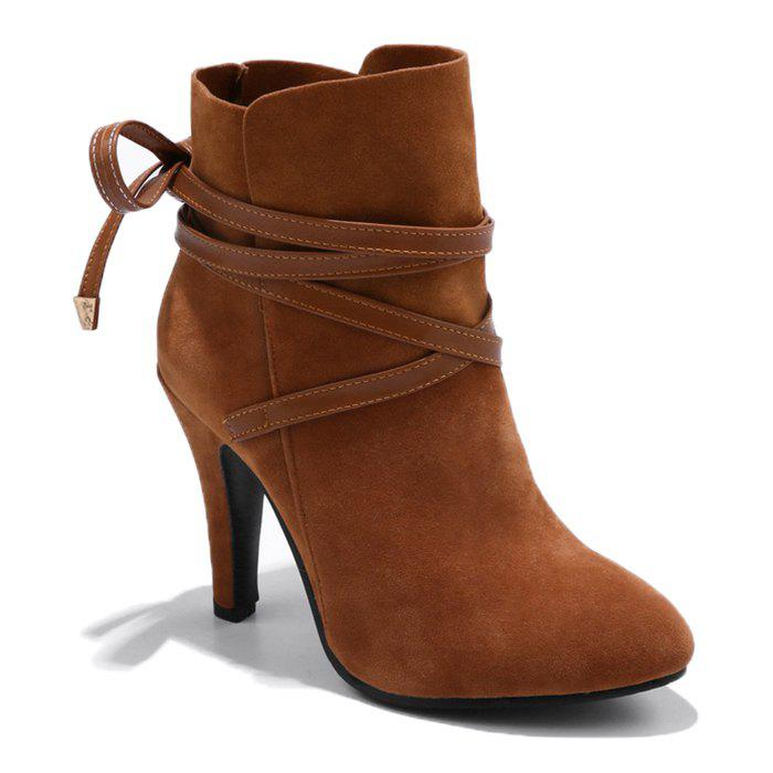 Criss Cross Stiletto Ankle Boots