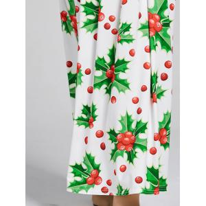 Christmas Berries Print A Line Maxi Dress - GREEN S