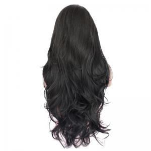 Long Side Parting Layered Slightly Curled Synthetic Lace Front Wig -