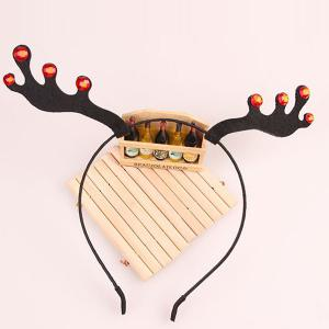 Halloween Christmas Reindeer Hairband - BLACK