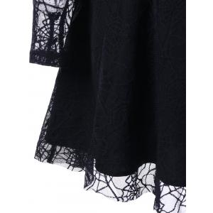 Halloween Spider Lace voir à travers robe -