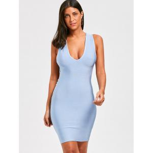 Sleeveless Open Back Strappy Bandage Dress -
