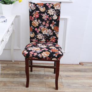 European Style Flowers Pattern Elastic Chair Cover -
