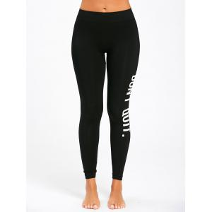 Dont Quit Graphic Workout Leggings -