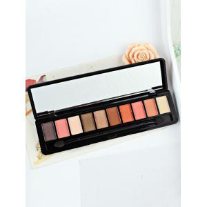 10 Colors Beauty Makeup Eyeshadow Kit With Brush - #02