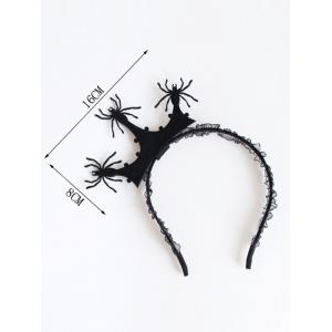 Crown Halloween Spider Lace Hairband -