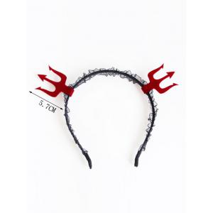 Halloween Lace Devil Hairband -