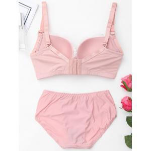 Push Up Plunge Bra Set with Lace - PINK 85C