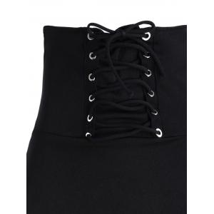 Asymmetric Lace Up Gothic Long Skirt -