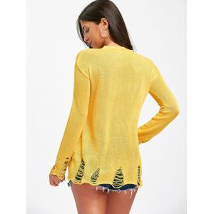 Distressed Smile Face Knitwear -