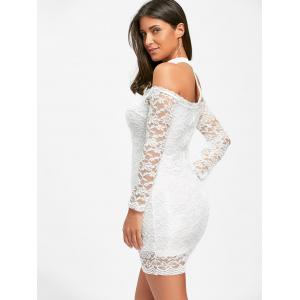 Lace Off The Shoulder Choker Bodycon Dress -