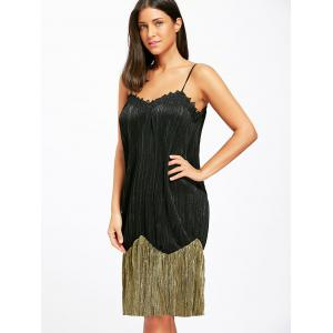 Two Tone Pleated Slip Sleep Dress -