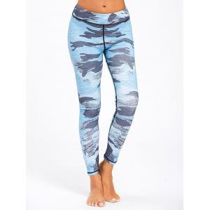 Sports Camo Printed Ankle Leggings -