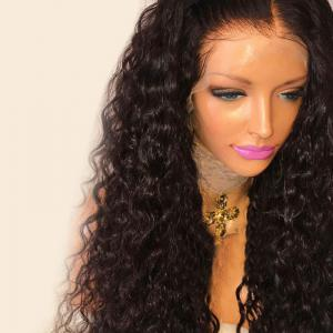 Long Free Part Shaggy Deep Wave Lace Front Synthetic Wig -