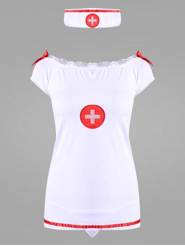 Store Off The Shoulder Nurse Dress Costume