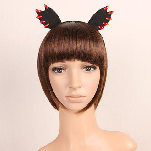 Faux Ruby Devil Halloween Bat Wing Hairband
