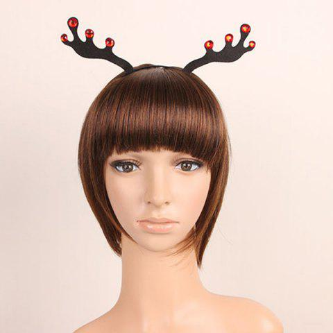 Outfit Halloween Christmas Reindeer Hairband - BLACK  Mobile
