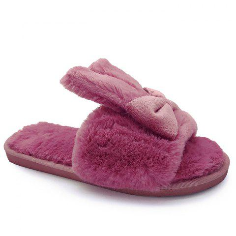 Online Rabbit Ear Non-slip Faux Fur Slippers - TUTTI FRUTTI SIZE(40-41) Mobile