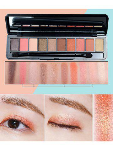 Fancy 10 Colors Beauty Makeup Eyeshadow Kit With Brush - #02  Mobile