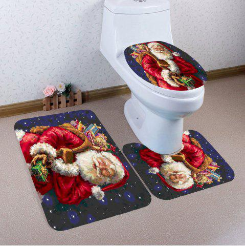 Store 3Pcs Santa Claus and Gift Pattern Bathroom Mats Set