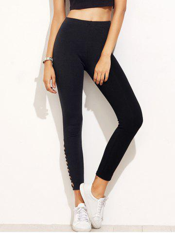 Buy High Waist Skinny Sporty Yoga Leggings BLACK S