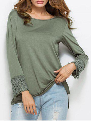 Outfit Lace Insert Long Sleeve Tunic T-shirt
