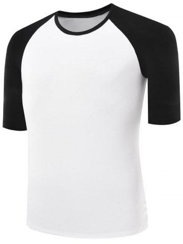 Sale Two Tone Half Sleeve Raglan Tee