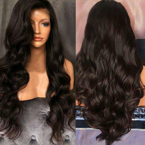 Store Long Free Part Shaggy Body Wave Lace Front Synthetic Wig