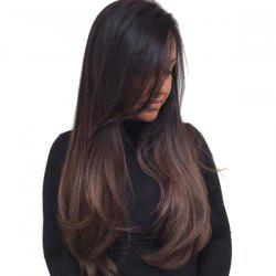 Perruque synthétique à longue inclinaison Bang Ombre Straight -