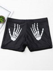 Halloween Skeleton Print Boyshorts -
