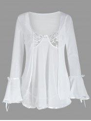 Mesh Cami Babydoll with Flare Sleeve Cover Up -