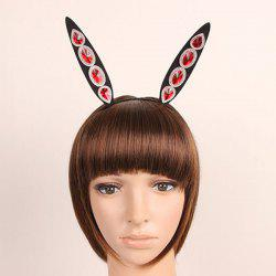 Faux Ruby Halloween Rabbit Ear Hairband -
