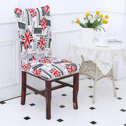 Union Jack Pattern Elastic Removable Chair Cover -