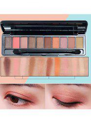 10 Colors Beauty Makeup Eyeshadow Kit With Brush -