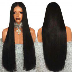 Ultra Long Middle Part Straight Synthetic Lace Front Wig -