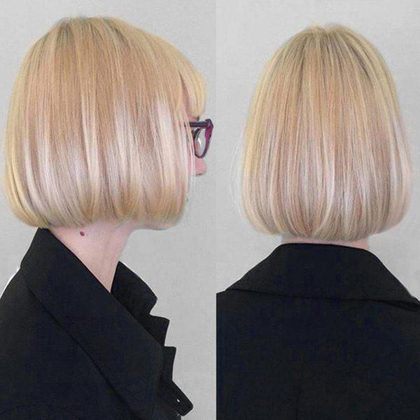 Short Neat Bang Colormix Straight Bob Synthetic WigHAIR<br><br>Color: COLORMIX; Type: Full Wigs; Cap Construction: Capless; Style: Straight; Material: Synthetic Hair; Bang Type: Full; Length: Short; Length Size(CM): 32; Weight: 0.1760kg; Package Contents: 1 x Wig;