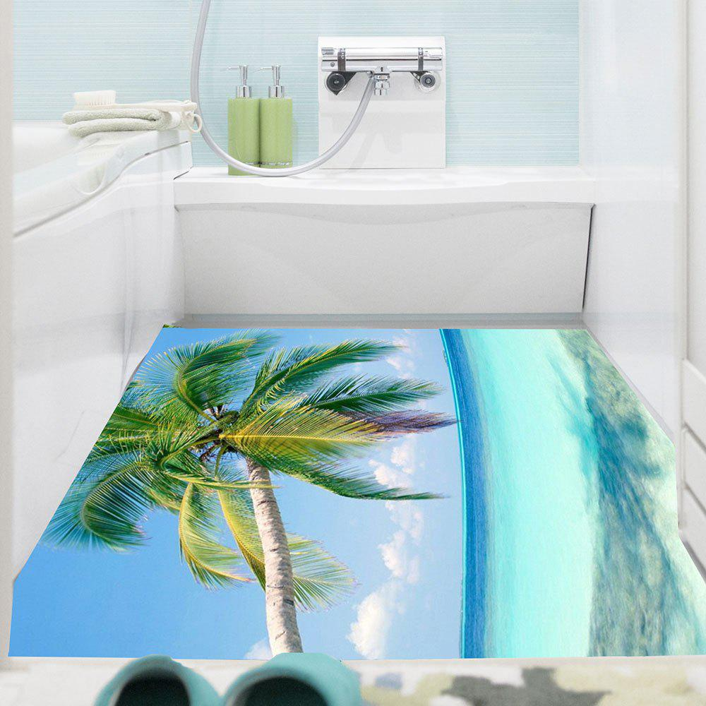 Shops Multifunction Coconut Tree Removable Floor Sticker
